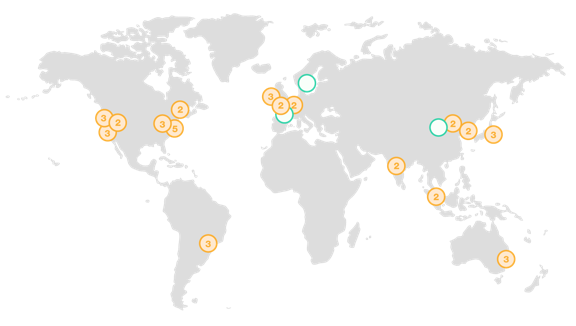 AWS Global Infrastructure: 16 + 3 regions